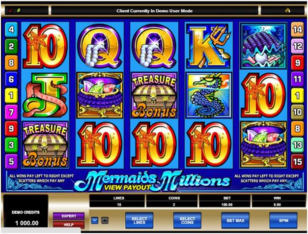 Tips to play Mermaid's Millions Casino